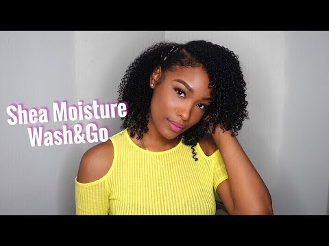 Wash & Go ft. Shea Moisture Jamaican Black Castor oil | FabulousBre