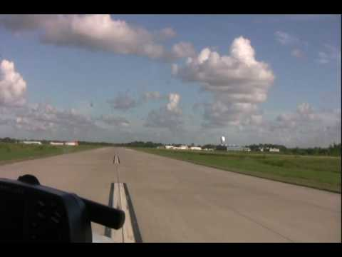 Takeoff from Pearland Regional Airport (KLVJ), August 2009