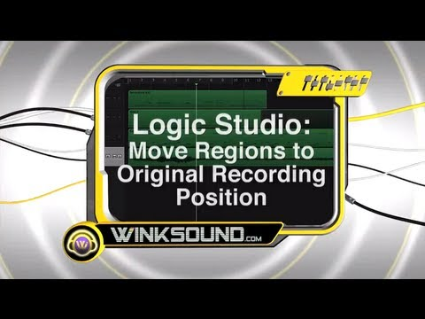 Logic Pro: Move Regions to Original Recording Position | WinkSound