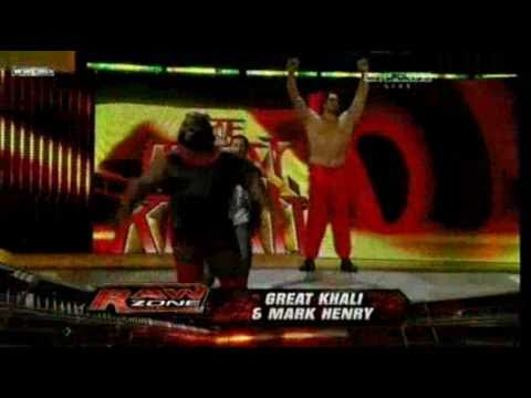 Mark Henry & Great Khali vs The Uso Dance match 30-1-11