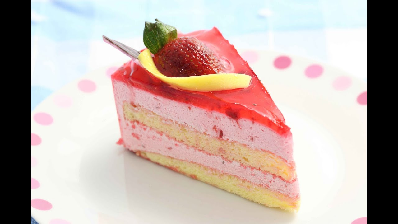 Strawberry Cheese Cake | Chef Anupa | Sanjeev Kapoor Khazana - YouTube