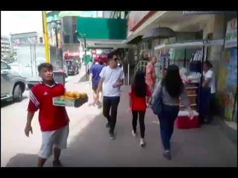 Philippines LIVE - Cebu City Street Walk, Fuente Circle Shops Hotels People Starbucks