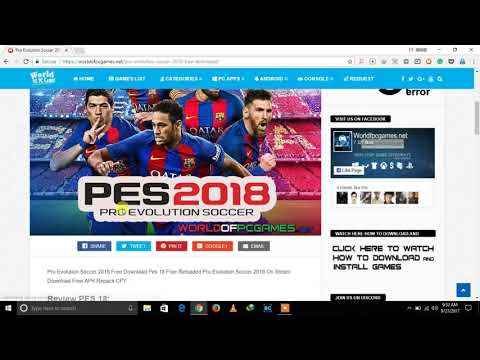 PES 2018 Download Full PC Game Free   Pro Evolution Soccer 2018 Download  Free  100% Working