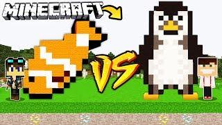 ZAMEK RYBA VS ZAMEK PINGWIN W MINECRAFT!
