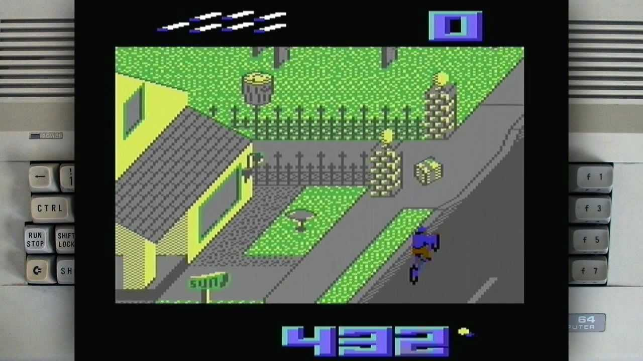 Paperboy on a Commodore 64