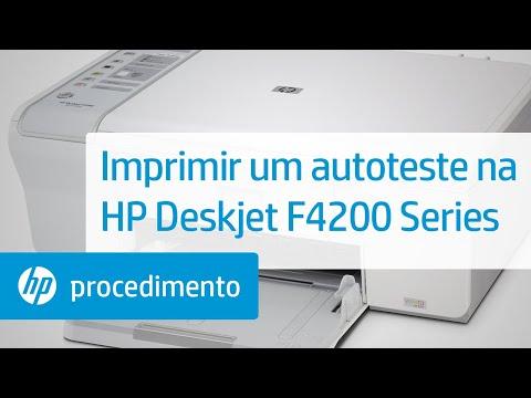Imprimir Um Autoteste Na Hp Deskjet Hp Deskjet F4200