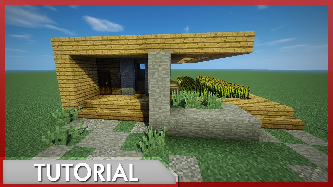 Minecraft como hacer una casa moderna f cil r pida para for Casa moderna survival minecraft