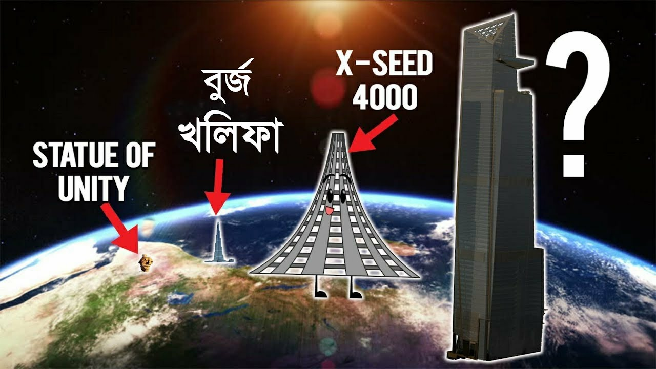 মানুষ কতটা উঁচু বিল্ডিং বানাতে পারবে? How high can we Build? Tallest thing Human can ever Build ?