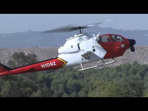USFS Bell 209 AH-1S FireWatch Cobra Landing