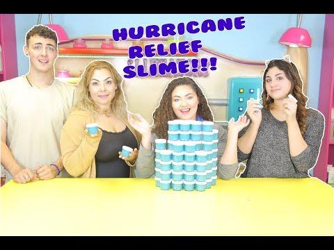 100 HURRICANE RELIEF SLIMES | super clear blue slime !