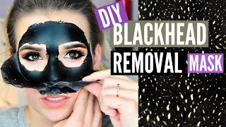 DIY Blackhead Removing PEEL OFF Mask!! (EASY + WORKS)