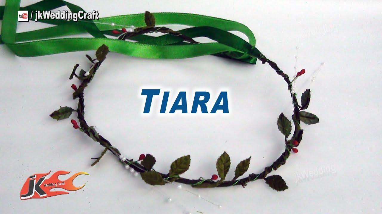 Diy How To Make A Leaves Crown Tiara Jk Wedding Craft 024 You