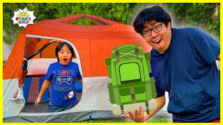 Ryan challenged Daddy with 24 hrs overnight camping in the backyard!!