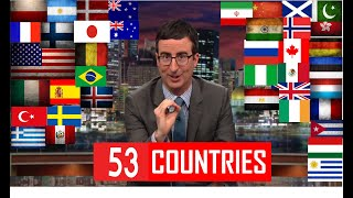 *53 COUNTRIES* - John Oliver Describes Countries Compilation - (A to Z)