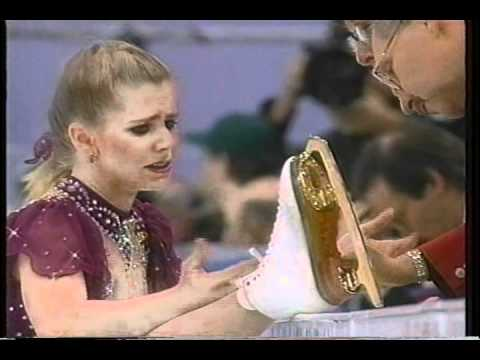 Tonya Harding (USA) - 1994 Lillehammer, Figure Skating, Ladies' Free Skate, 1st Attempt