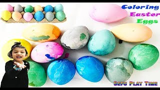 Coloring Easter Eggs with Sefu Play Time. Family Funny learning videos for kids. Egg toys for kids.