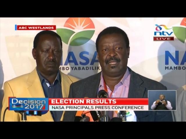 Nasa demands that Raila Odinga be declared president