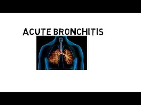 acute bronchitis(definition,etiology,pathogenesis,symptoms,,diagnosis,treatment )