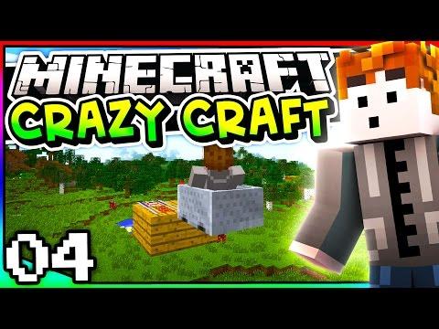 Minecraft: Crazy Craft 3.0 - Episode 4 - FLYING MINECARTS!