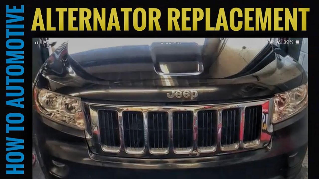 How To Replace The Alternator On A 2011 2017 Jeep Grand Cherokee Laredo Engine Diagram With 36l