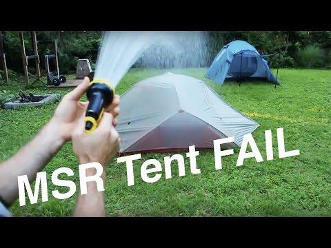 MSR FreeLite 3 Lightweight Tent Setup & FULL RAIN TEST
