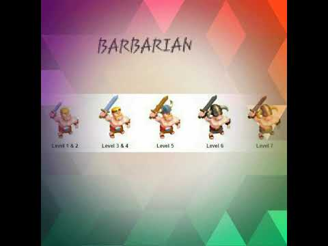 COC | Barbarians Lvl 1-7| Archers 1-7| Clash Of Clans Troops