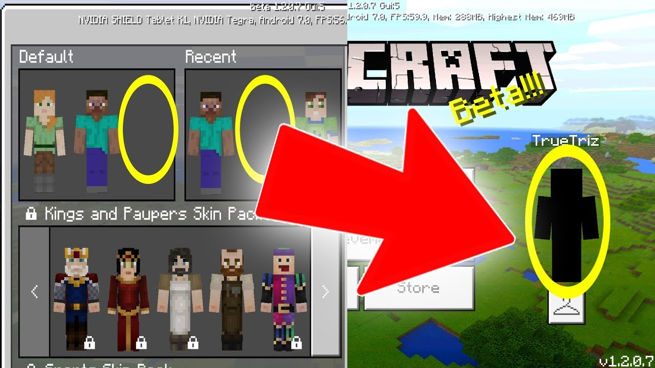 CUSTOM SKINS in Minecraft Pocket Edition 1 2 UPDATE!!!