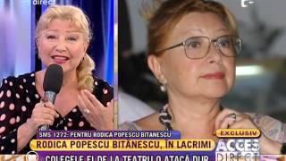 Colegele de teatru o ataca dur pe actrita Rodica Popescu Bitanescu!