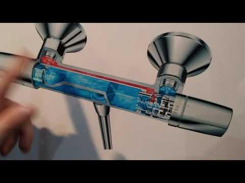Как работает термостатный смеситель Hans Grohe. Выставка Леруа Мерлен . 2 часть