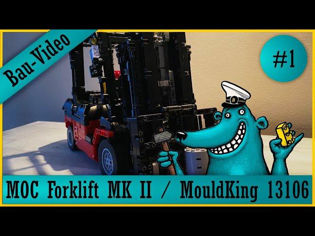 Mould King Forklift 13106: Der Käpt'n baut einen #KeinLego-Gabelstapler, denn Stapeln ist gut! #1