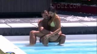 Pedro e Kelly na piscina (depois confessionario do Pedro) P1 18.07.2013