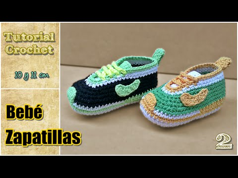 Crochet Tutorial Zapatitos Bebe Escarpines : Zapatitos para bebE a crochet, talle 10 y 11 cm - Paso a paso - 2de2 ...