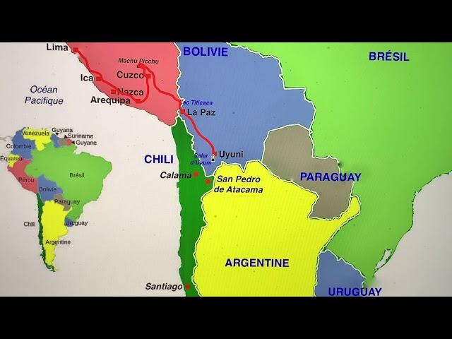 présentation du voyage en Amérique du Sud
