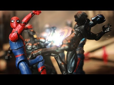 Spider-Man Captain America Thor Stop Motion Action Video Episode  4 w toys
