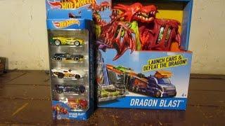 Hot Wheels Dragon Blast Playset w/5-Pack