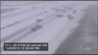 Реальный ужас на зимней дороге