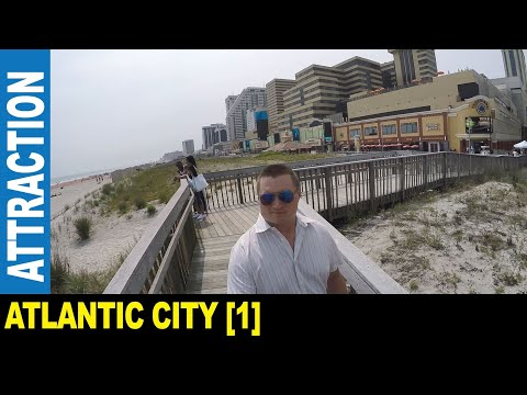 Atlantic City [Part 1] Famous Boardwalk With Many Casinos Hotels Beaches   Jarek In New Jersey USA