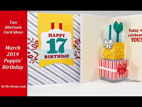 March 2019 Paper Pumpkin Poppin' Birthday Card Alternatives