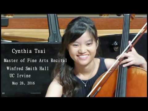 Cynthia Tsai, Master of Fine Arts Recital, 2016-05-28