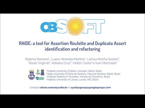 RAIDE: a tool for Assertion Roulette and Duplicate Assert identification and refactoring