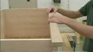 How To Build A Chest Of Drawers : How To Attach The Front Trim For Chest Of Drawers