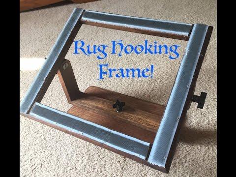 Making a Rug Hooking Frame - YouTube