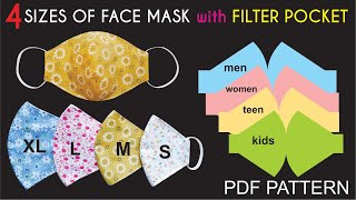 Fast And Easy To Make 4 Sizes Of Face Mask Pattern PDF Face Mask Pattern For Free Part 2