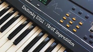 Ensoniq ESQ1 First Impression