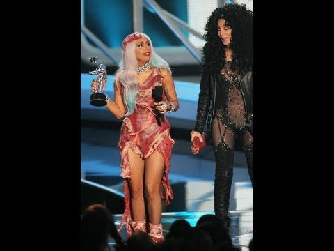 Lady Gaga VMA Meat Dress Outfit