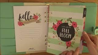 Carpe Diem floral A5 planner review