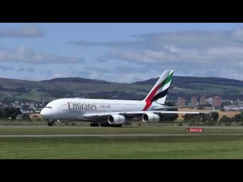 Emirates A380 - Glasgow Airport [4K/UHD]