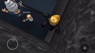 Roblox Baby Boo Busters Obby jumping up to the Baby boo maker machine