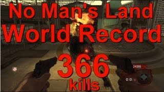 366 Kills No Mans Land World Record New Legit #1 nml black ops zombies (xbox)