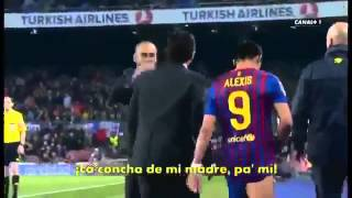 Pep Guardiola yells at Alexis Sanchez for his new injury! Angry   YouTube2